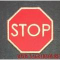 Светоотражающая нашивка STOP с липучкой