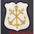 Шеврон Главного командования ВМФ для кителя белого цвета