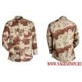 Куртка BDU из камуфлированной ткани Пустыня