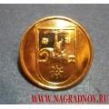 Пуговица с гербом Республики Абхазия 14 мм