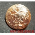 Пуговица Царская серебряного цвета 17 мм
