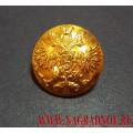 Пуговица Царская золотого цвета 14 мм