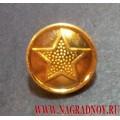 Пуговица с ободком Звезда 14 мм
