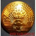 Пуговица с гербом Республики Таджикистан большая