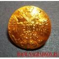 Пуговица Царская золотого цвета 17 мм