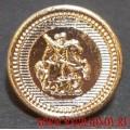 Пуговица Георгий Победоносец серебряного цвета 22 мм
