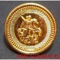 Пуговица Георгий Победоносец золотого цвета 22 мм