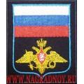 Шеврон с эмблемой ВС России для офисной формы синего цвета