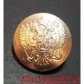 Пуговица с Гербом РФ 22 мм серебряного цвета