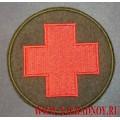 Нашивка Красный крест оливковый фон