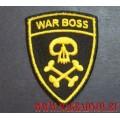 Нашивка war boss желтая нить