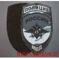 Шеврон полиция МВД камуфляж Город с липучкой