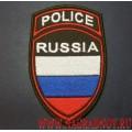 Шеврон сотрудников полиции МВД России для выездов за рубеж