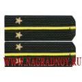 Погоны ВМФ с вышитыми звездами звание лейтенант