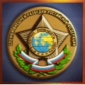 Магнит 3D  с эмблемой Службы внешней разведки Российской Федерации