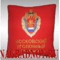 Подушка с вышитой эмблемой Московского уголовного розыска