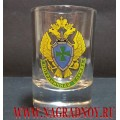 Рюмка с эмблемой Пограничной службы ФСБ