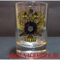 Рюмка с эмблемой СВР России