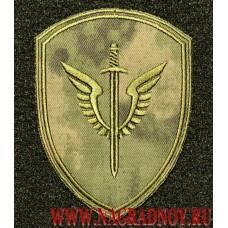 Камуфлированный шеврон ОМОН Зубр на форму расцветки Мох с липучкой