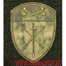 Шеврон частей оперативного назначения Приволжского округа ВНГ на форму зеленый Мох с липучкой