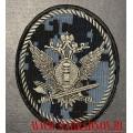 Шеврон сотрудников ФСИН для камуфлированной формы синяя цифра