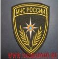 Шеврон МЧС России металлизированные нити