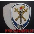 Жаккардовый шеврон сотрудников следственных органов МВД для рубашки белого цвета с липучкой