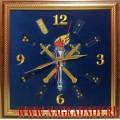 Настенные часы с вышитой эмблемой Следственных органов МВД России