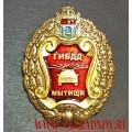 Нагрудный знак 75 лет ОГИБДД Мытищинского района