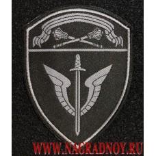 Жаккардовый шеврон сотрудников ОМОН Центрального округа ВНГ с липучкой