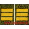 Фальшпогоны камуфлированные с желтыми лычками звание сержант