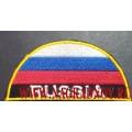 Нашивка на рукав RUSSIA для формы сотрудников МЧС России
