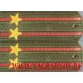 Погоны с вышитыми звездами военнослужащих МО РФ звание подполковник