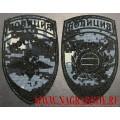 Комплект шевронов сотрудников полиции Охрана общественного порядка для камуфляжа Цифра