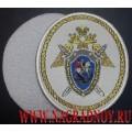 Нарукавный знак сотрудников СКР для рубашки белого цвета