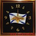 Часы с Андреевским флагом и якорями