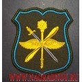 Шеврон военнослужащих штаба ДА ВВС России оливковый фон
