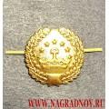 Петличная эмблема золотого цвета ВС Таджикистана