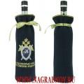 Подарочный мешочек для бутылки с вышитой эмблемой Следственного комитета