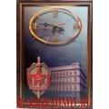 Часы настенные с эмблемой КГБ СССР
