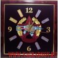 Часы настенные с вышитой эмблемой Боевая единица