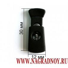 Пластиковый фиксатор черного цвета