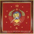 Часы настенные с вышитым Гербом СССР