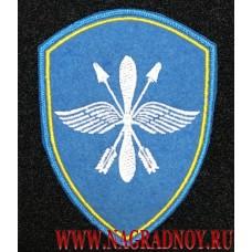 Шеврон голубого цвета для авиационных подразделений ВНГ с липучкой