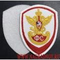 Шеврон Государственная фельдъегерская служба белый с липучкой
