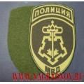 Жаккардовый шеврон сотрудников подразделений ВОХР МВД для полевой формы с липучкой