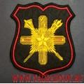 Шеврон Главного управления кадров Министерства обороны для формы черного цвета
