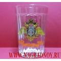 Граненый стакан с эмблемой МВД России