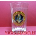 Граненый стакан с эмблемой Морской пехоты России