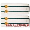 Погоны ПС ФСБ для рубашки белого цвета звание подполковник
